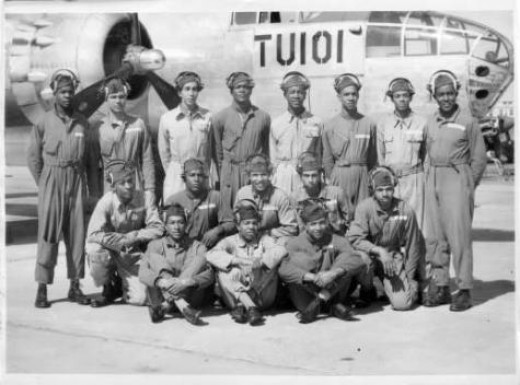 Tuskeegee Airmen, form a large exhibit at the Black Archives on Vine.