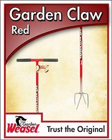 Garden Weasel Red Claw Garden Weeder Tool for easy garden weeding
