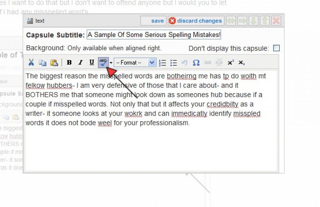 Misspelled Words:How to use the HubPages Spell Checker