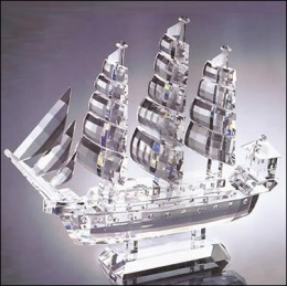 Example of crystal ship