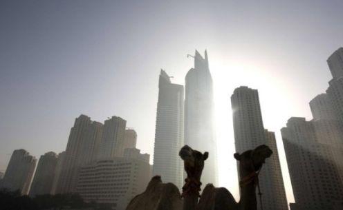 Sky scrappers in Dubai.