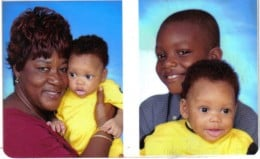 Jaleel and Joshua, along with Godmother Patricia.