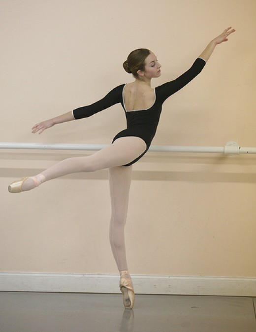 The beautiful line of a ballet-trained body
