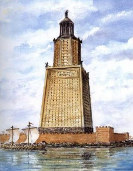 The lighthouse of Alexandria built under Ptolemy.
