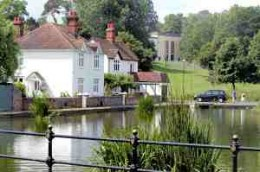 Beautiful old pond in Dunmow to be ice skating rink!!!And Cameron wants to give idiots like this MORE autonomy? Unbelievable.