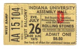 The Stones in Bloomington, Indiana 1975.