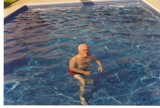 This is one time that the pool water was so perfectly balanced.