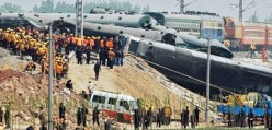 Scores of people killed in worst China train crash in a decade