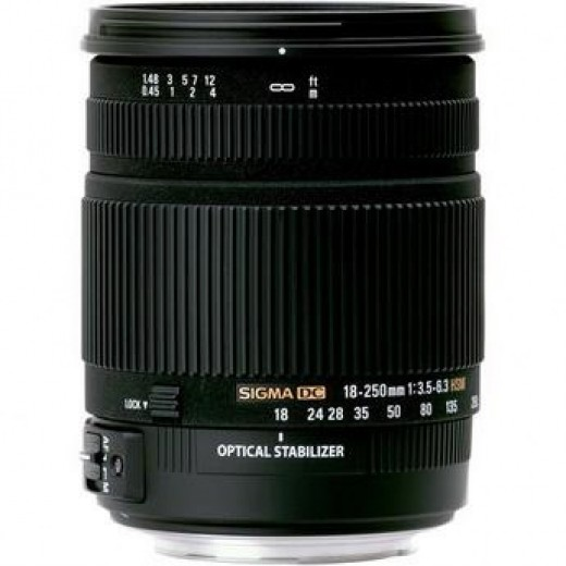 Sigma 18-250mm OS Lens for Digital SLR camera