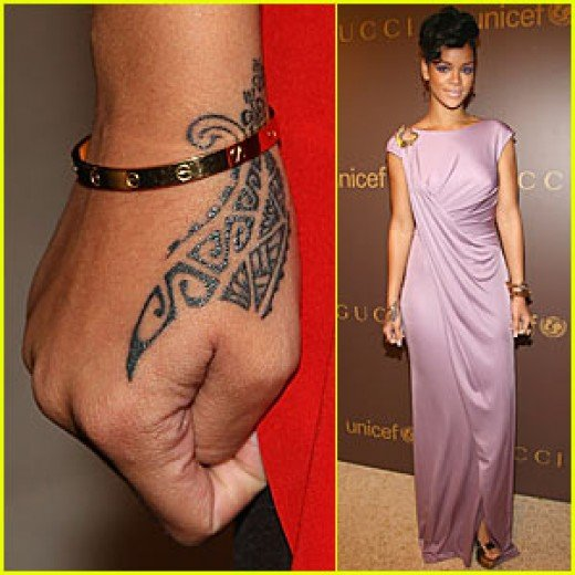 Who better to ask for wrist tattoos ideas than the stunning Rihanna and ya