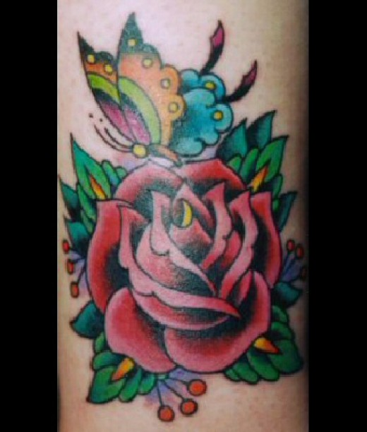 When I did my black rose tattoo hub a lot of you wanted a red rose so for
