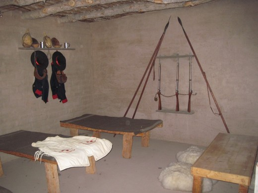 Barracks for enlisted men.