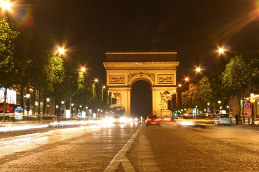 Le Champs Elysee and Arc de Triomphe