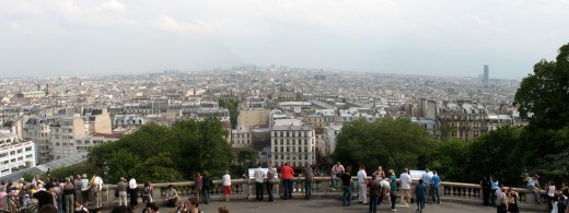 View of Paris from The Basilique du Sacre Coeur