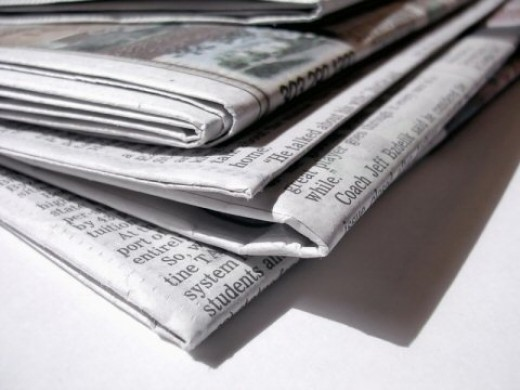 Newspaper can be recycled to make new paper