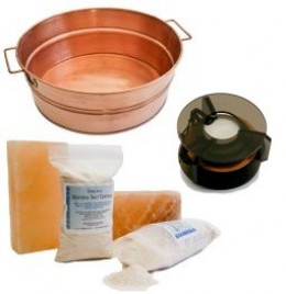 Ion spa with copper tub and high quality salt