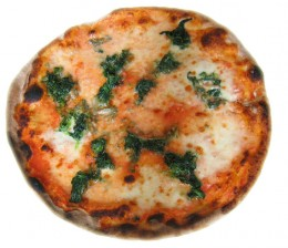 Italian Spinach Pizza by Nova on wikimedia commons