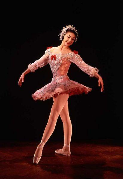 Margot Fonteyn in her Rose Adagio costume