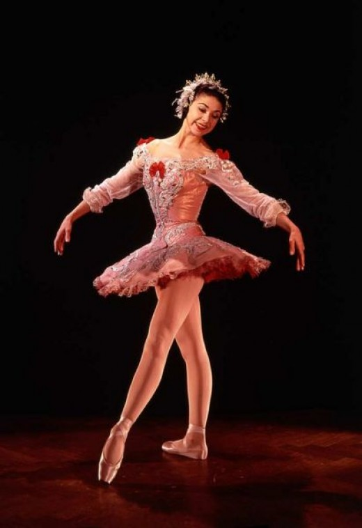 Margot Fonteyn in her Rose Adagio costume
