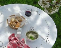 Delicious wild herb soup