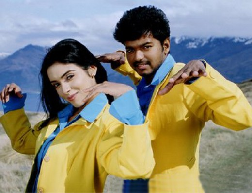 Vijay with Asin in SIVAKASI