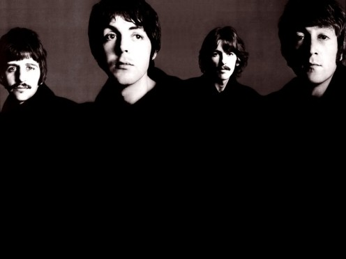The Beatles - Ringo Starr, Paul McCartney, George Harrison and John Lennon.