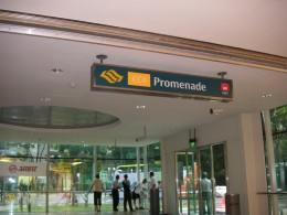 The Promenade MRT station, part of the Circle Line.