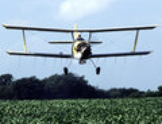 Old fashioned crop duster.