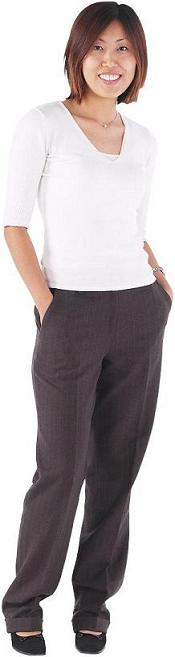 A shirt and dress-pants work just fine in a more casual environment. It's busines-like, just without the jacket.