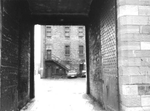 Photo taken 1997. Steel doors have been there since 1860