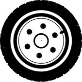Car Tires and Truck tires look alike but the truck tires are made for heavier duty than the car tires.