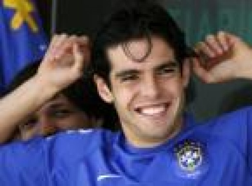 Kaka is the 28 year old mid fielder that plays for Brazil