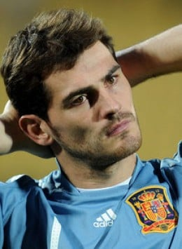 Inker Casillas is the 28 year old goalkeeper for the Spanish team and is recognised as the best goalkeeper in Europe.