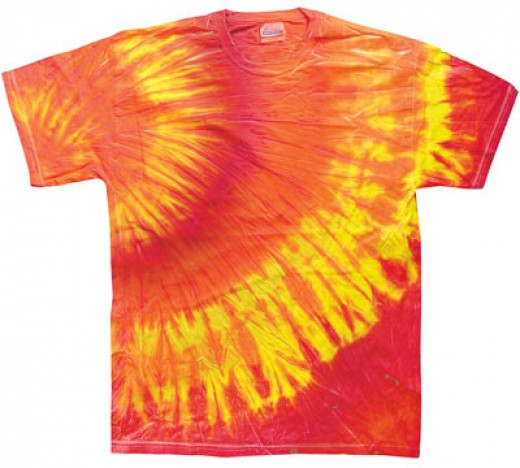 One of the example of tie dye t-shirt