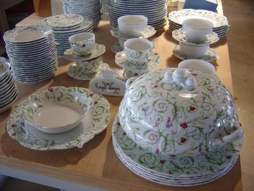 A wide variety of Porcelain is produced in Limoges. This is from the Royal Limoges.