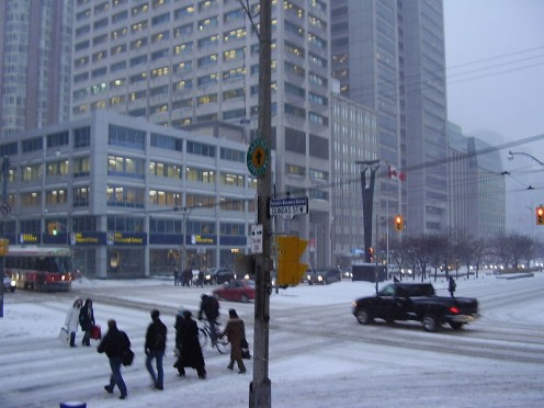 early winter in Toronto