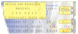 Lou Reed 1989.