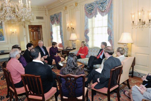 Secretary Clinton Met With The Families Today As The Hikers Remain Detained In Iran