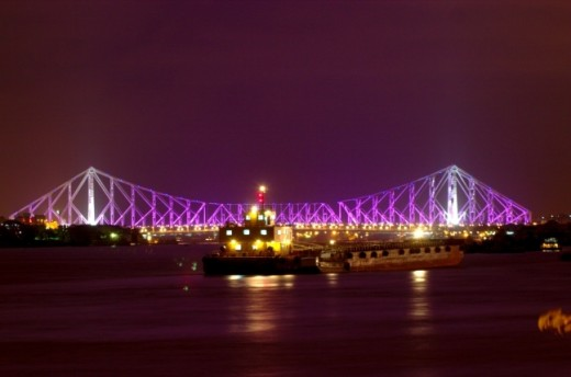 Night View of Howrah Bridge