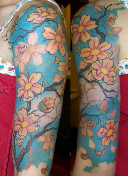 Famiglia Per Sempre Tattoo. Some nice flower tattoos that