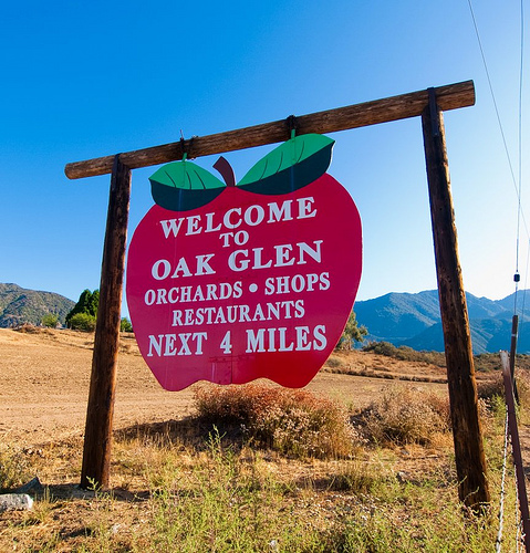 Courtesy google images:  you can always come back home to Oak Glen!