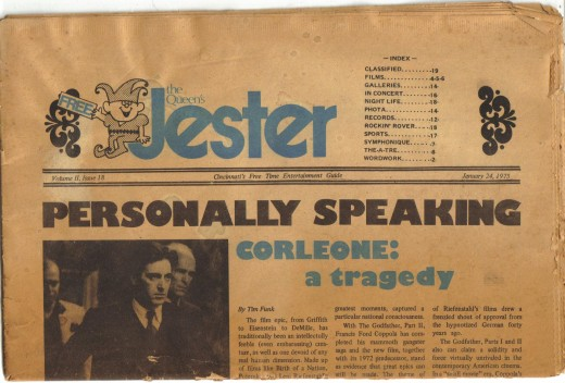 The Jester was a little underground type paper that told us where all the bands were playing.