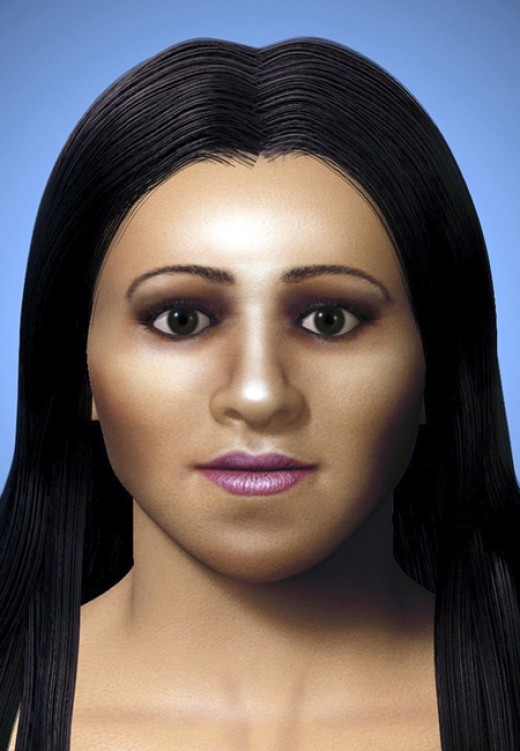 The reconstructed face of Arsinoe, half sister of Queen Cleopatra. Courtesy/Discovery channel.