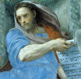 Painted depiction of the Prophet Isaiah