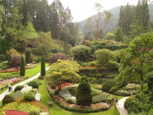 Butchart Gardens' Sunken Garden on Vancouver Island