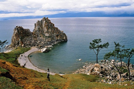 A shore of Lake Baikal