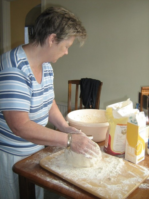 Mum Making Soda Bread