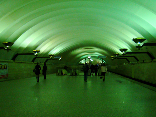A metro station in St. Petersburg. Photo by goro.