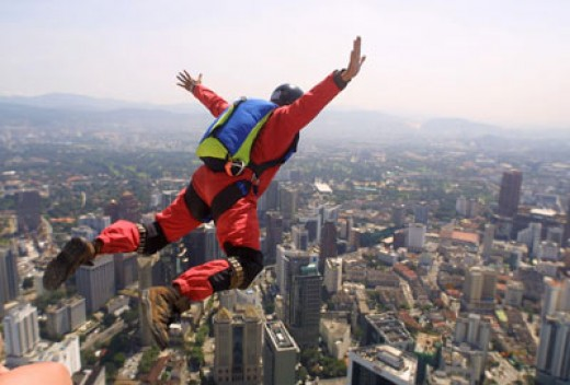 You must be a little nuts to hurl yourself off a building or cliff with a parachute strapped to your back. Unsurprisingly, there are about 30 parachuting related deaths per year in the UK. Phote Courtesy of Virginmedia.com