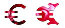 """""""C"""" and """"O"""" shapes in the Euro piece cut"""